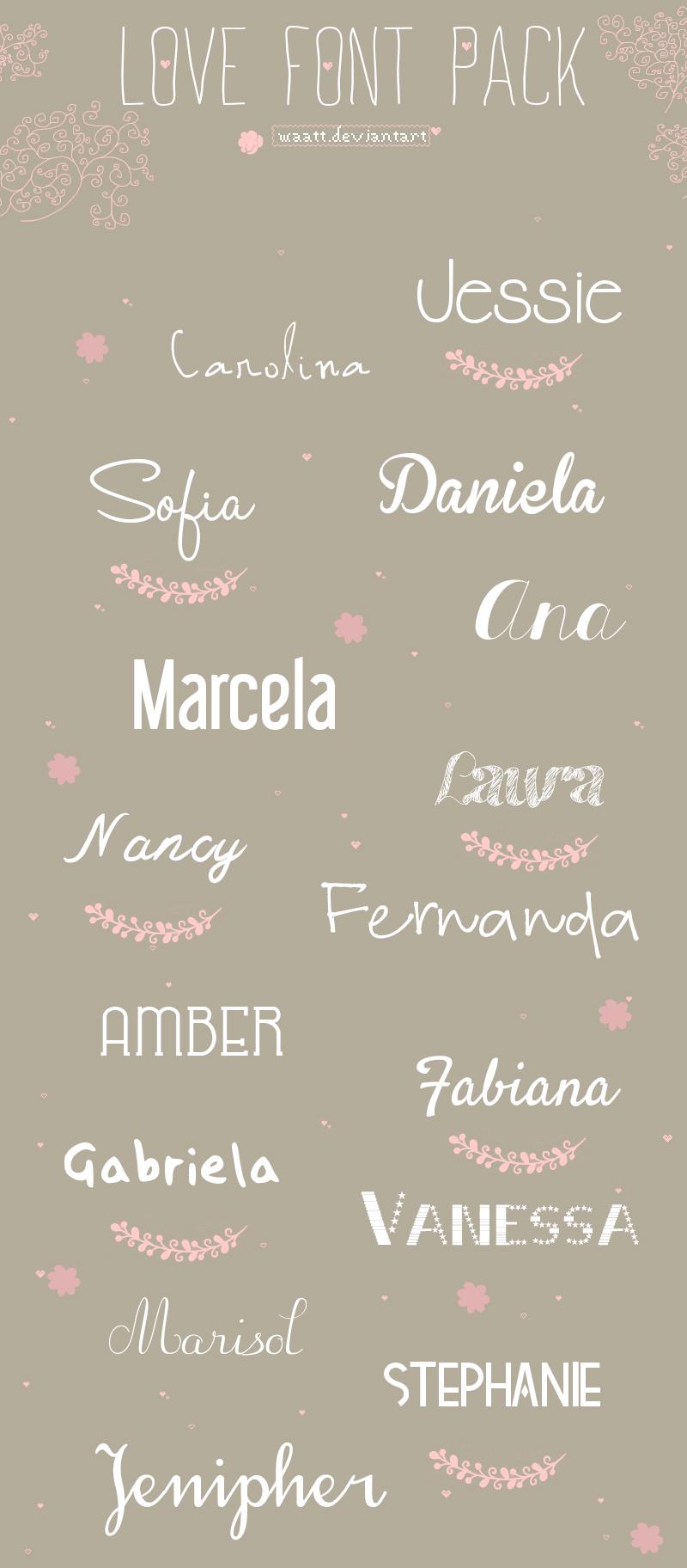 Download Lovely Fonts Pack by Waatt on DeviantArt