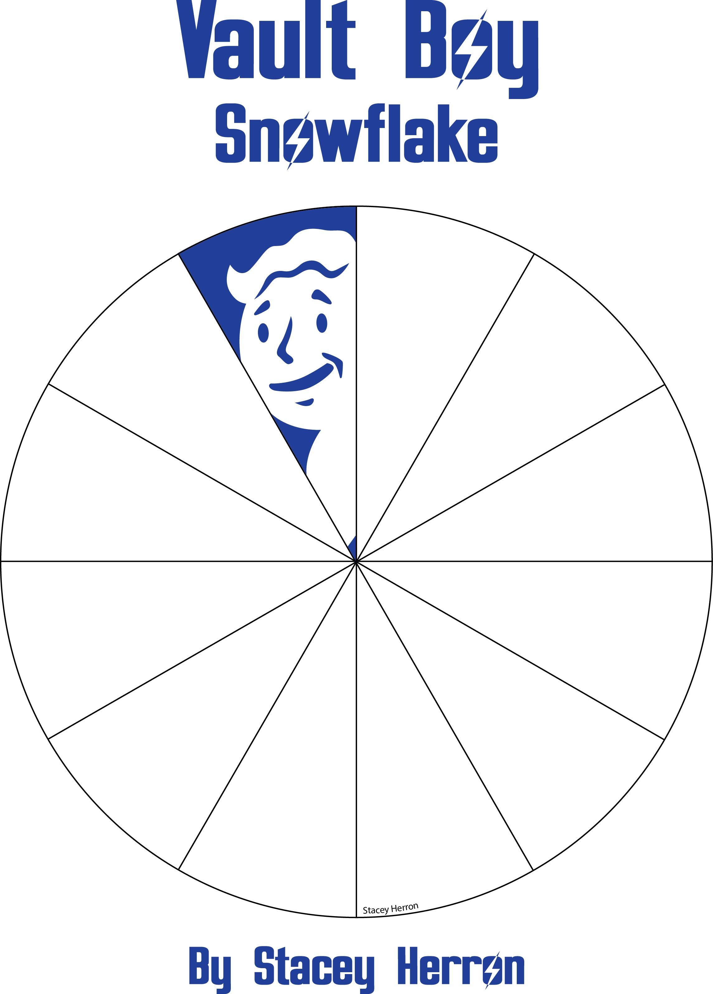 Vault Boy From Fallout Snowflake Template By Stacey On