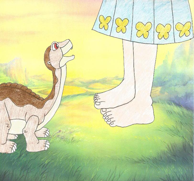 Anime Girls Showing Feet Wallpaper Littlefoot And Olivia S Talk On Human Feet By Animedalek1