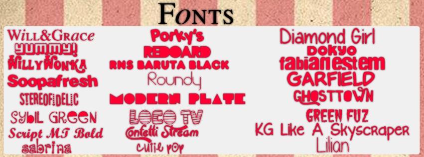 Download Pack de Fonts by Paayaasitaa on DeviantArt