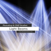 Light Beams + Rays Photoshop and GIMP Brushes - KOSTENLOS !