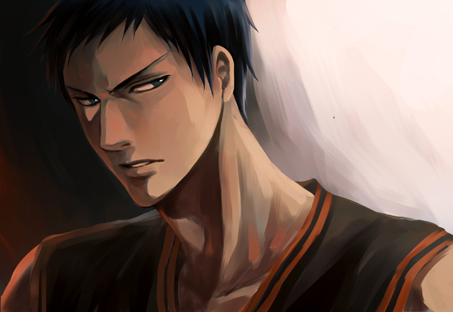 Aomine Daiki Hd Wallpaper Alone Aomine Daiki X Depressed Reader By Bloodyrosexx On
