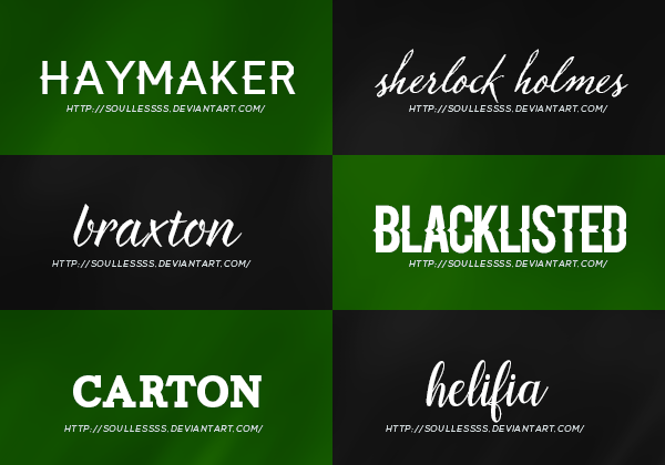 Download Font Pack 1 by theoutlandish on DeviantArt
