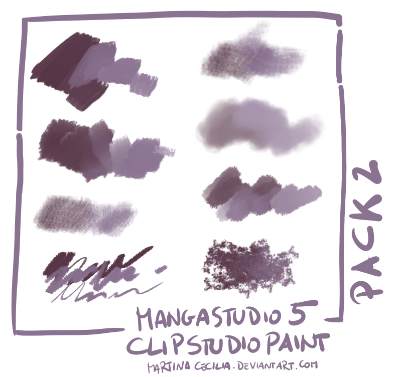 MangaStudio 5 Clip Studio Paint Brushes Pack2 By