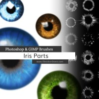 Iris (AUGEN) Photoshop and GIMP Brushes - KOSTENLOS