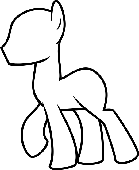 Male Pony Base Vector by FabulousMoustache on DeviantArt