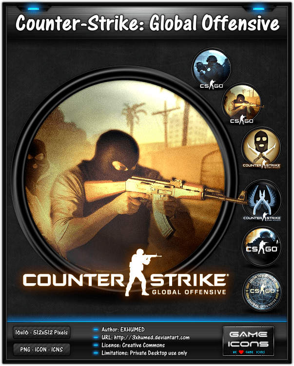 Counter Strike Go Game Icon Pack By 3xhumed On DeviantArt