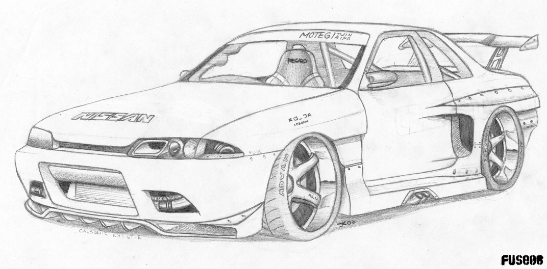 Custom Gtr Coloring Pages