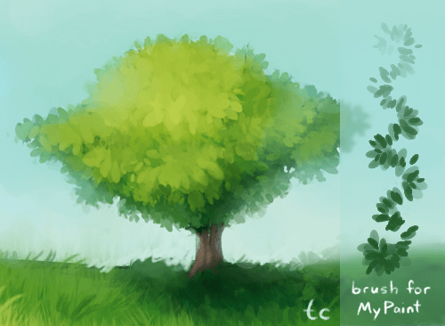 MyPaint Leaf Brush By Taleclock On DeviantArt