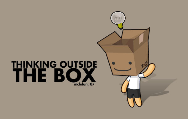 Image result for thinking outside the box