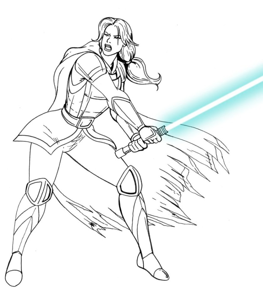 female mandalorian coloring pages