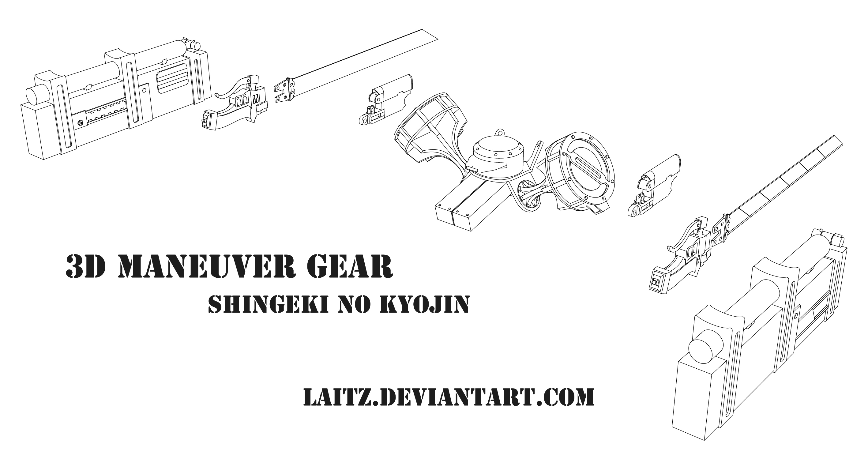 3D Maneuver Gear (3DMG) : Blueprints by Laitz on DeviantArt