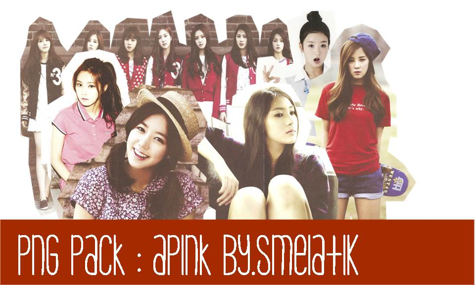 [PNG Pack] APINK with outline #2 - littlejungg by SekarMelatiKamah