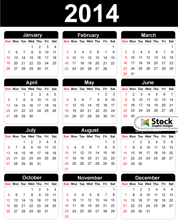 2014 Free Vector Calendar by Stockgraphicdesigns on DeviantArt