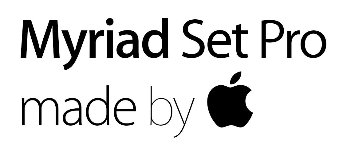 Myriad Set Pro family pack by Apple by Bogun99 on DeviantArt