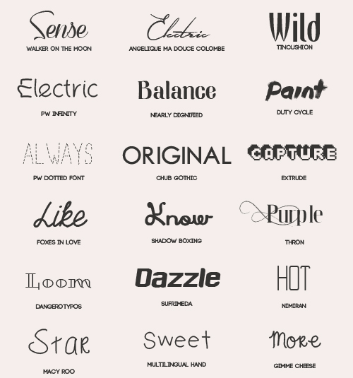 Download Font Pack #3 by shiny-a on DeviantArt