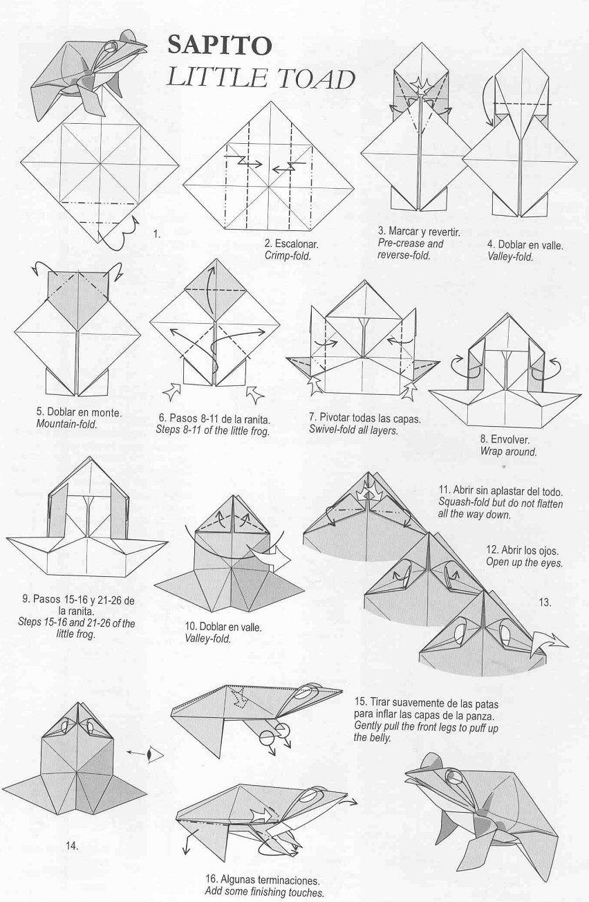 complex origami diagram