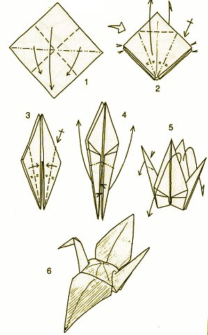 origami hummingbird diagram instructions hampton bay ceiling fan speed switch crane with a back