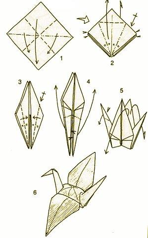 origami hummingbird diagram instructions 2004 gmc sierra 2500 radio wiring crane with a back