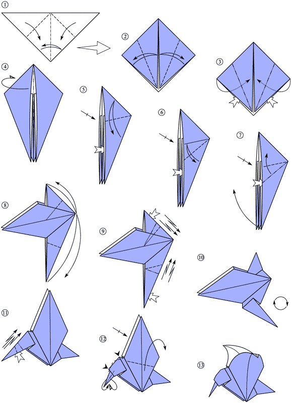 origami hummingbird diagram instructions cat 6 wiring for wall plates a simple model