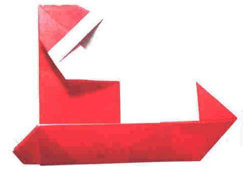 origami hummingbird diagram instructions trailer wire 7 way santa claus in a sleigh (origami diagram)