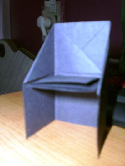Origami Chair Folding Instructions  How to Make an Origami Chair