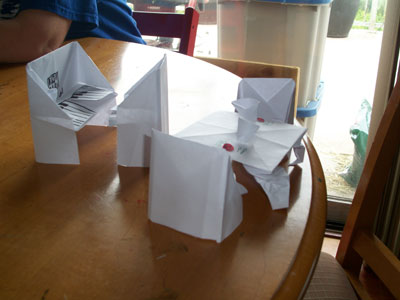 folding card table and chairs cherry wood dining uk origami chair instructions - how to make an