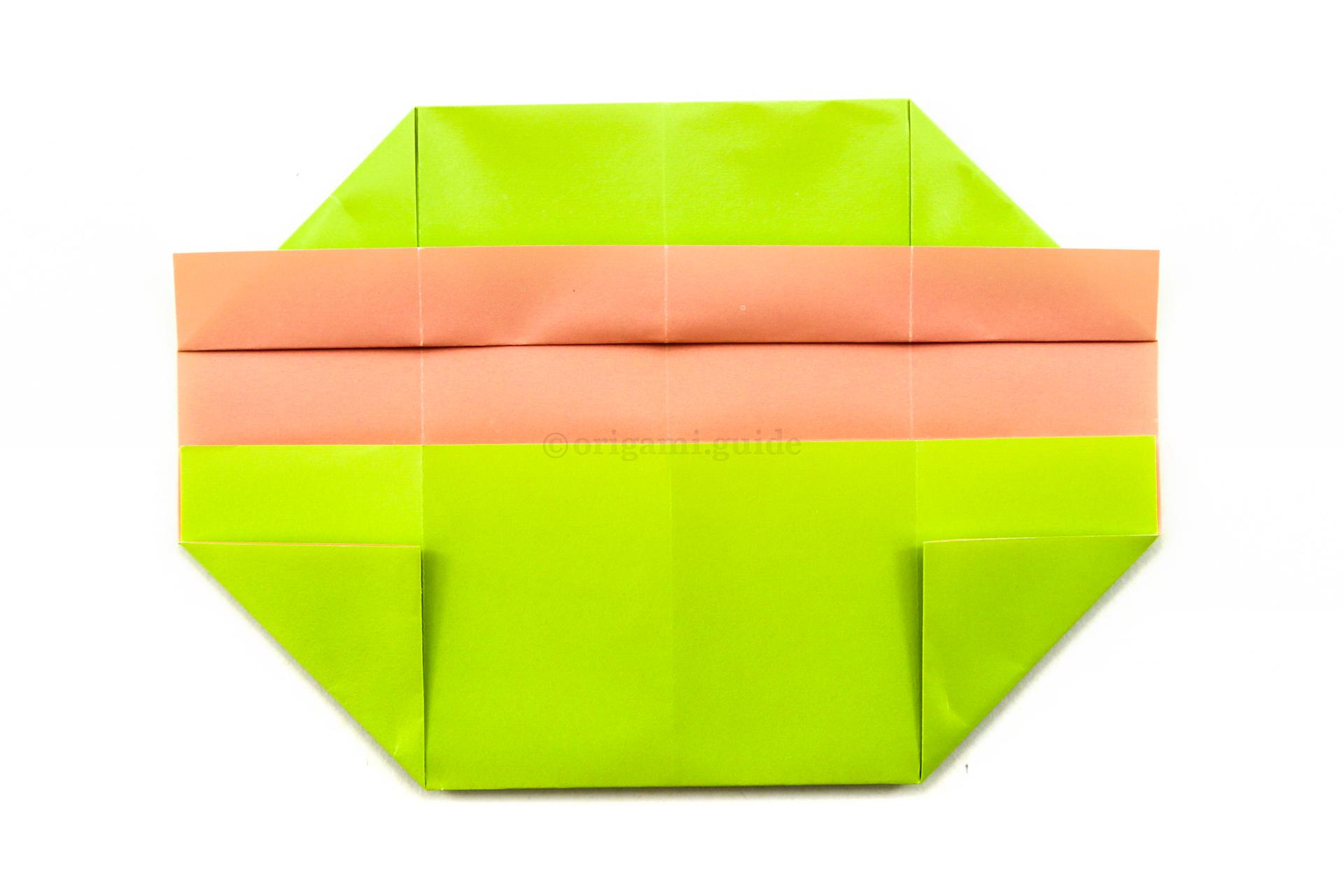 origami rectangular box folding instructions