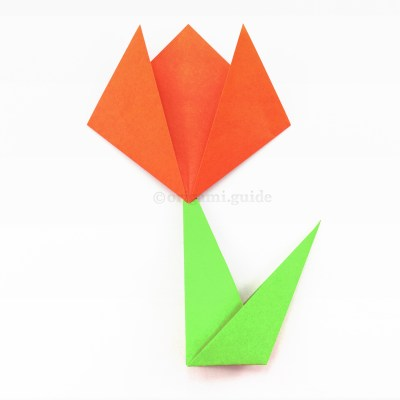 How To Fold Origami Grass / Flower Stem & Leaf