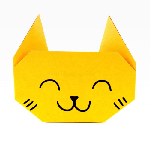 How To Make An Easy Origami Cat Face