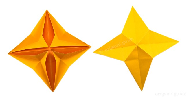 How To Make An Easy Origami 4 Point Star