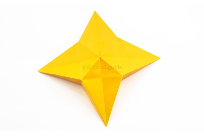22. Flip the star over to the other side to see the finished model.