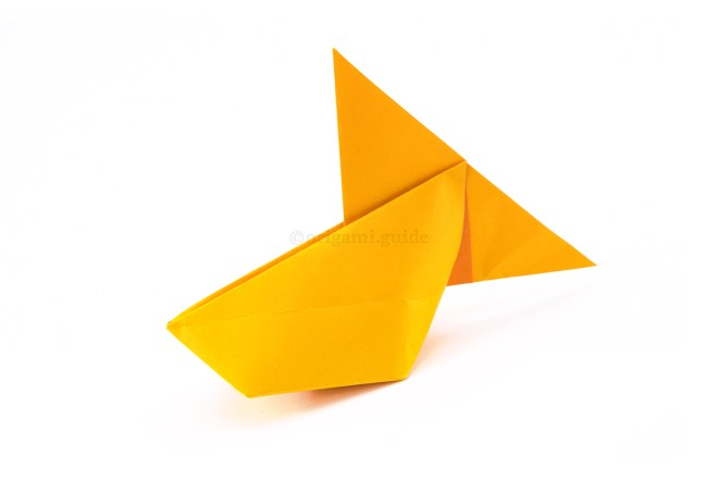 26. Your inflatable origami fish is now complete.