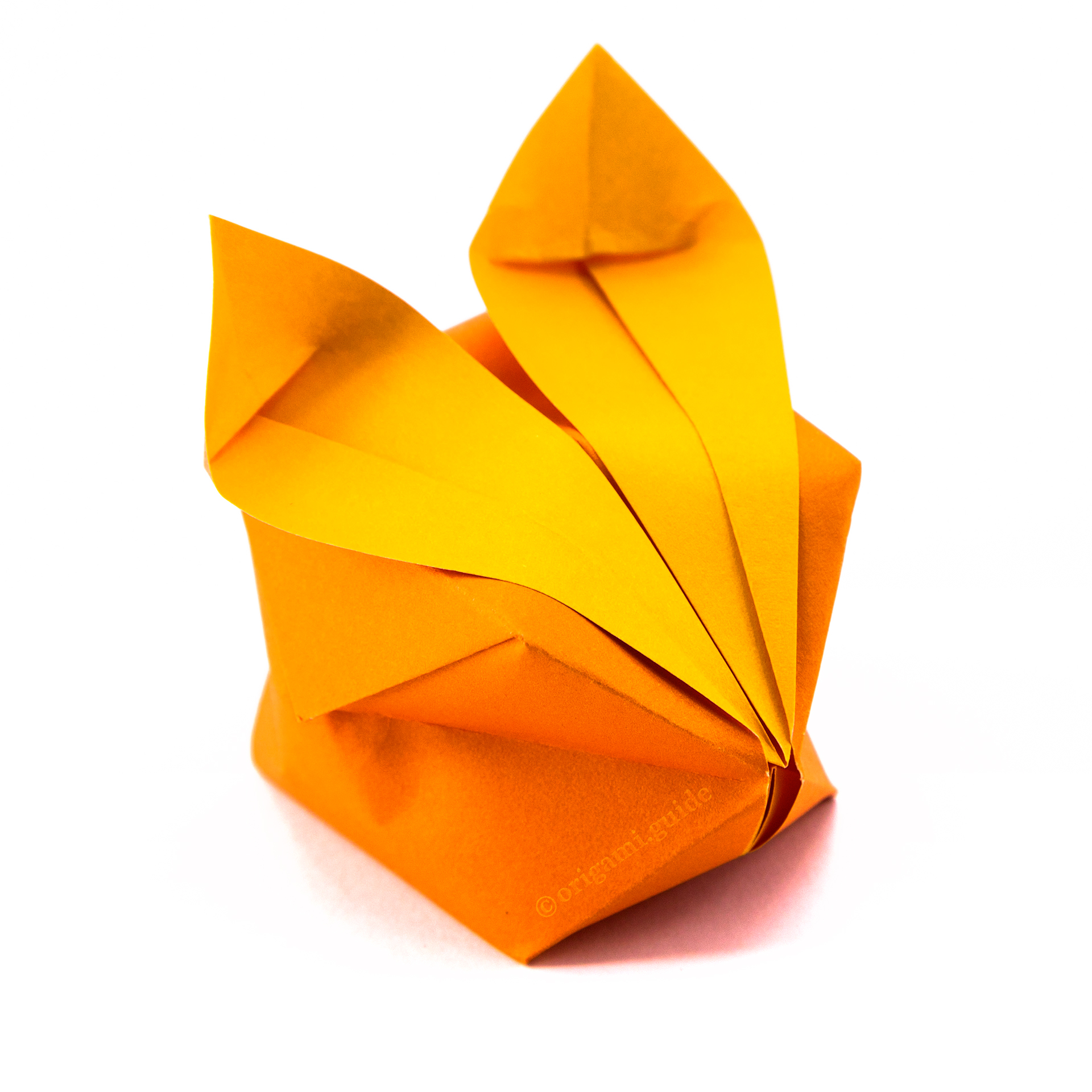 How to Make an Origami Rabbit Face Step by Step Instructions ... | 1920x1920