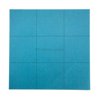 Folding Paper into Fourths 4 x 4 Grid