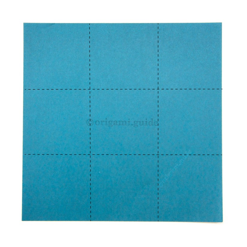 Folding Paper into Thirds 3 x 3 Grid
