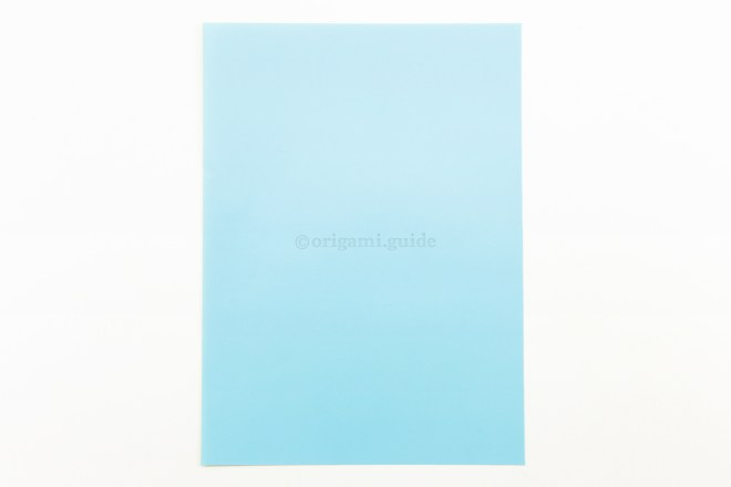 1. This is the front of the paper, our box will end up being this color.