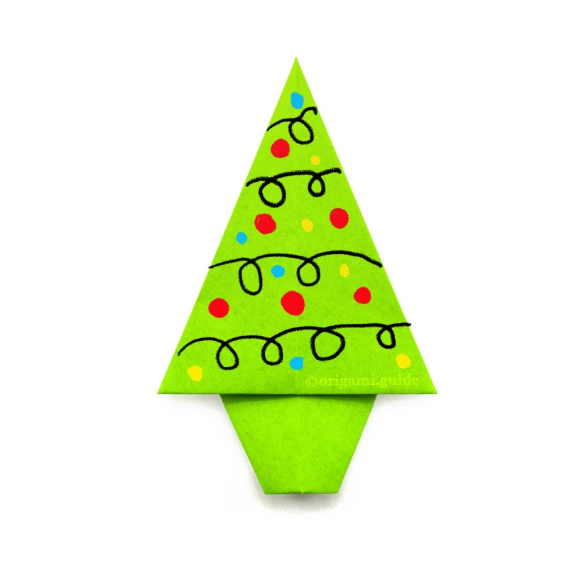 How To Make An Easy Origami Fir / Christmas Tree