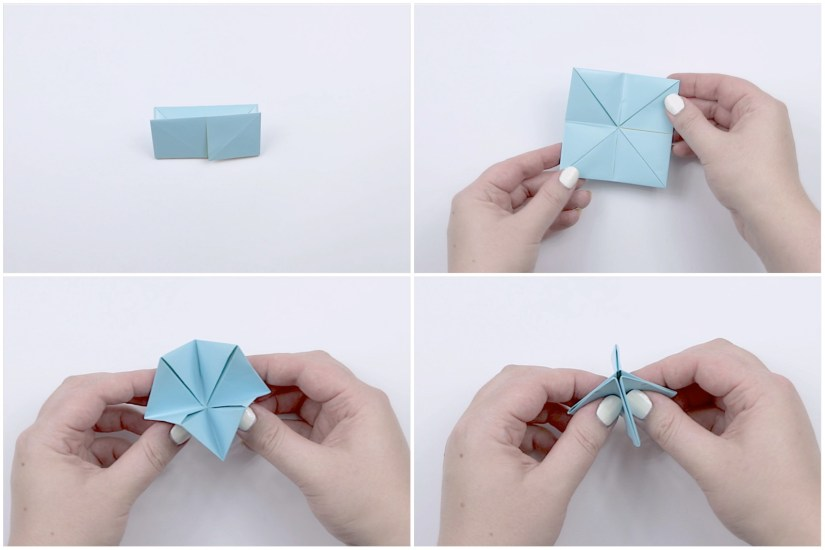 18. Here is some extra help with finishing the origami cooty catcher.
