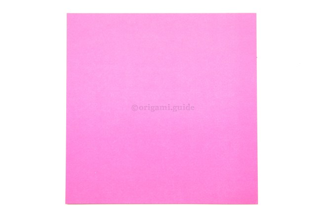 1. This color will be at the top of the origami bag.
