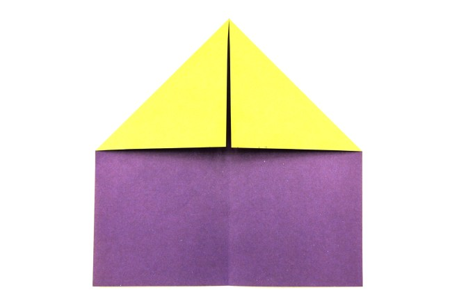 6. Fold the top left corner in the same way.