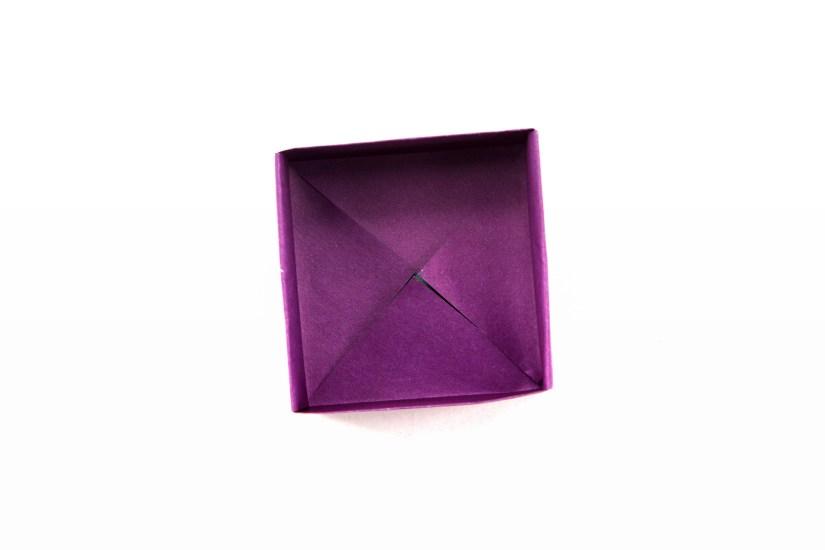 21. The origami masu box is complete.