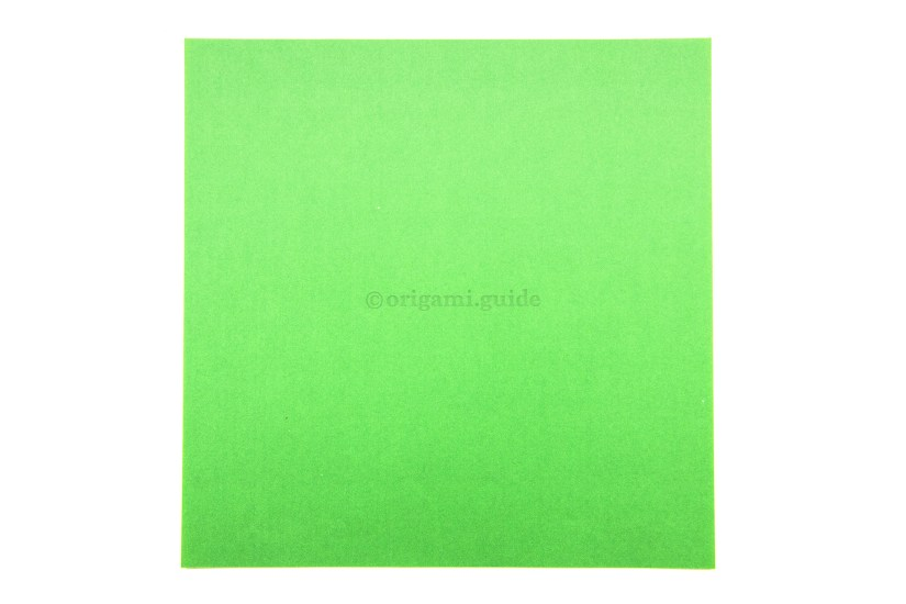 1. This is the back of the paper, the inside of the basket will be this colour.