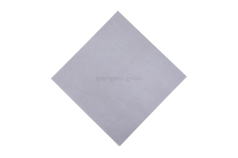 1. This is the front of our origami paper, our swan will be mostly this colour.