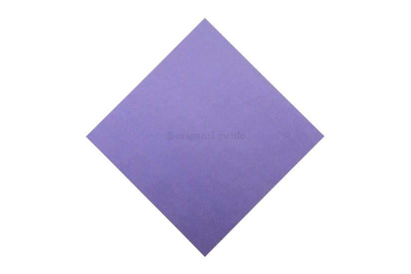 1. This is the front of the paper, our boat's bottom will be this color.