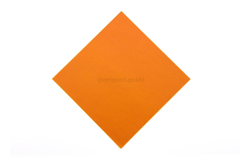 1. This is the front of our paper, the top part of our hat will be this colour.