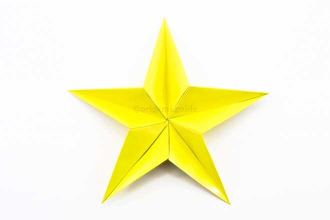 19. Continue to attach them together still your star is complete!