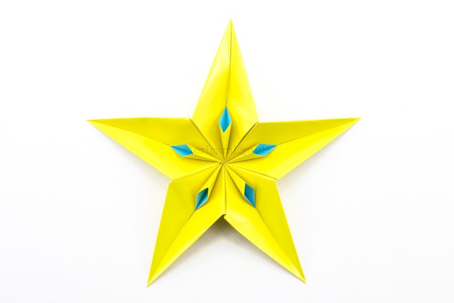 26. The completed 5 point star with the extra detail!