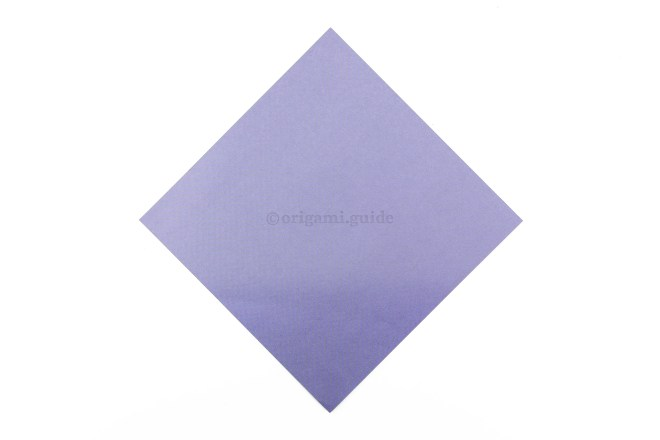 1. Starting with your square sheet of paper like this...