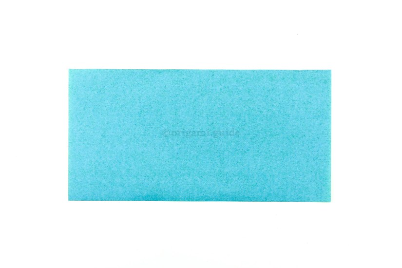 1. Starting with any sheet of paper, here we have a half square.